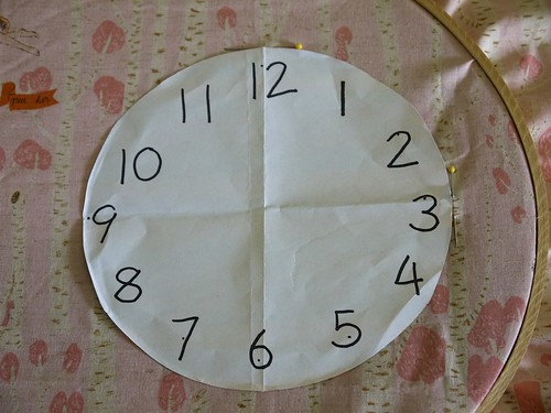 Embroidered Clock Tutorial