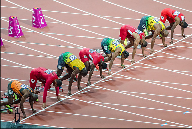 London Olympics 2012 - Mens 100m Final ( Usain Bolt ...