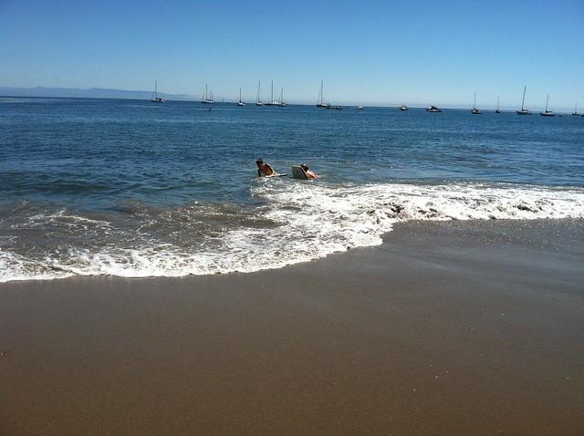Capitola Beach Boogie Boarding