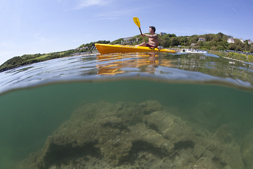 Kayaking at Langland Bay, Gower
