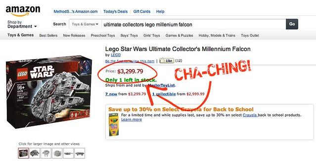 Ultimate Collectors LEGO Millennium Falcon - $3,299