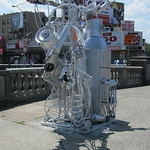 Marche's first sculpture standing on Grand Concourse and E. Fordham Road.