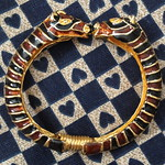 kenneth jay lane zebra bangle