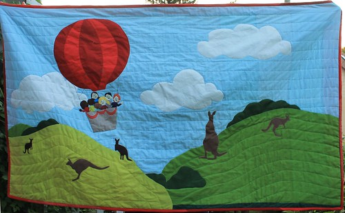 Australia Hot Air Balloon Quilt