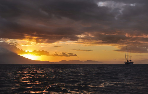 Hope Island sunset ..ships log
