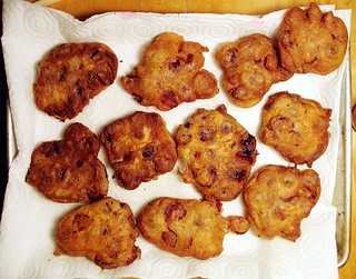 sour cherry-caraway fritters