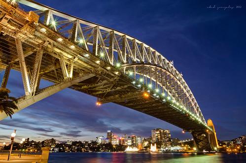 city longexposure bridge light sunset skyline night harbour dusk sydney australia nsw newsouthwales lunapark cbd bluehour therocks f28 milsonspoint bradfieldhighway dawespointpark tokina1116mm nikond7000