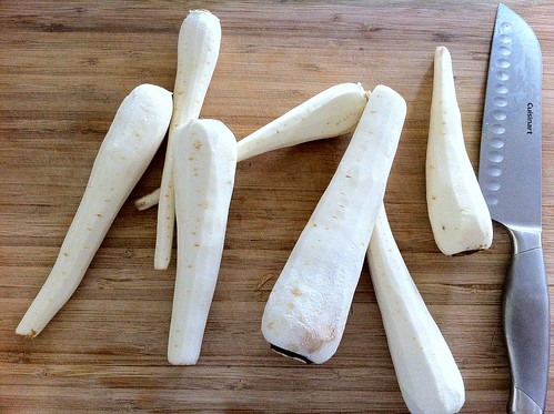 Peeled Parsnips