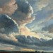 Simon Alexandre-Clement Denis - Study of Clouds with a Sunset near Rome