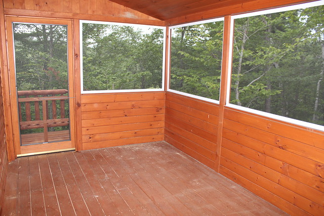 Screened porch on modular home flickr photo sharing for Prefab screened porches