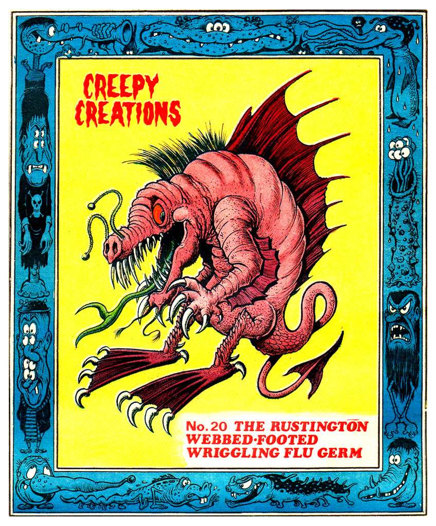 Creepy Creations No.20 - The Rustington Webbed Footed Wriggling Flu Germ