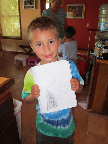 Ezra and his drawing