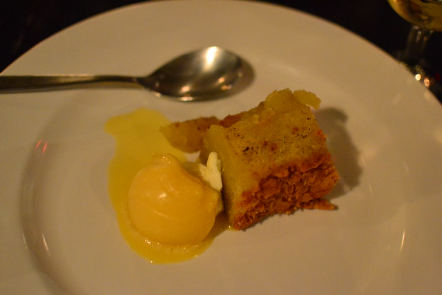 Olive Oil Cake and Orange Sorbet