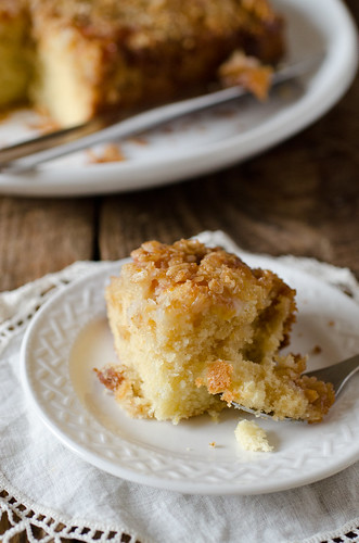 Upside Down Peach Crumb Cake 2