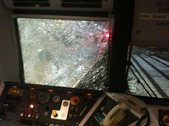 Class 185 185137 after hitting Ice in Morley Tunnel