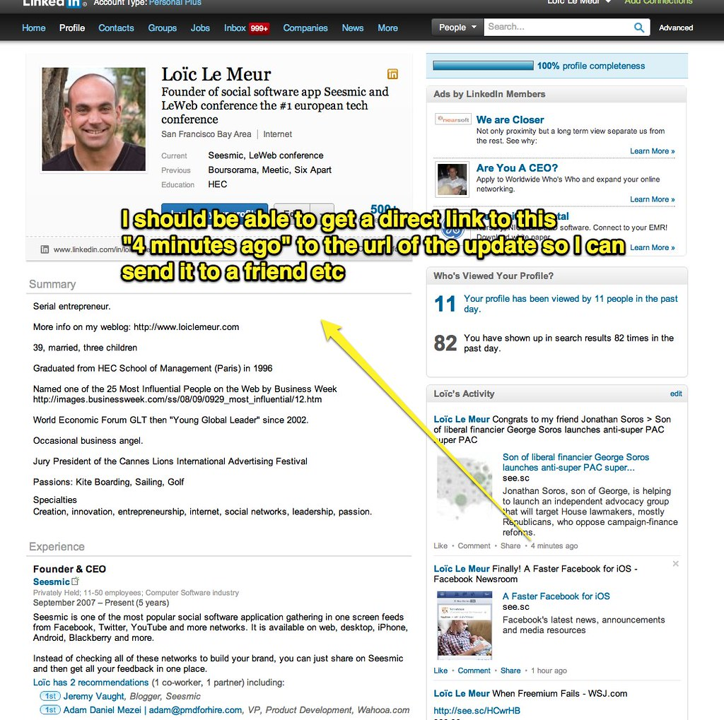 Loïc Le Meur | LinkedIn | Uploaded with Skitch | Loic Le Meur | Flickr