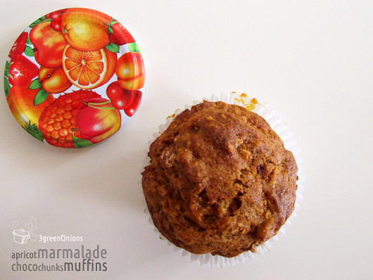 apricot marmalade choco chunks muffins