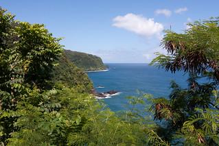De fraaie kust van Noord Maui