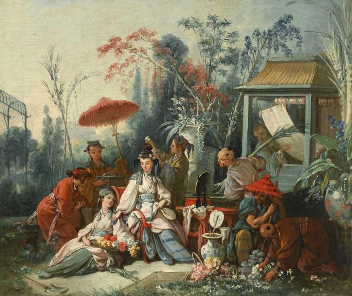 Chinese Garden by François Boucher, 1742