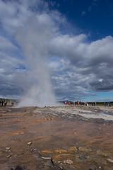 eruption of strokkur at geysir
