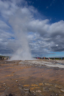 eruption of strokkur at geysir