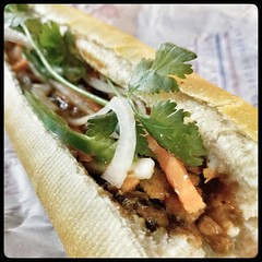 Running errands without Tim gives me the excuse to grab a bite at places he doesn't like. Like #LeesSandwiches, the only place I know where you can get a #Sardine (#CaMoi) #BanhMi in Orange County outside of #LittleSaigon. (And for only $3.79!) :-)