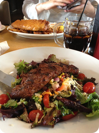 My steak salad