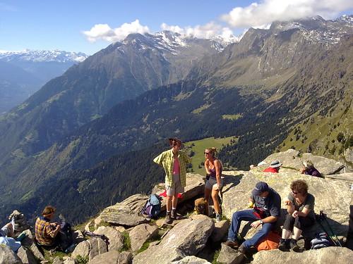 Blick vom Gipfel der Mutspitze in Richtung Vinschgau