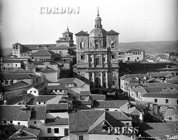 Iglesia de San Ildefonso vista desde la Catedral de Toledo hacia 1875-80. © Léon et Lévy / Cordon Press - Roger-Viollet