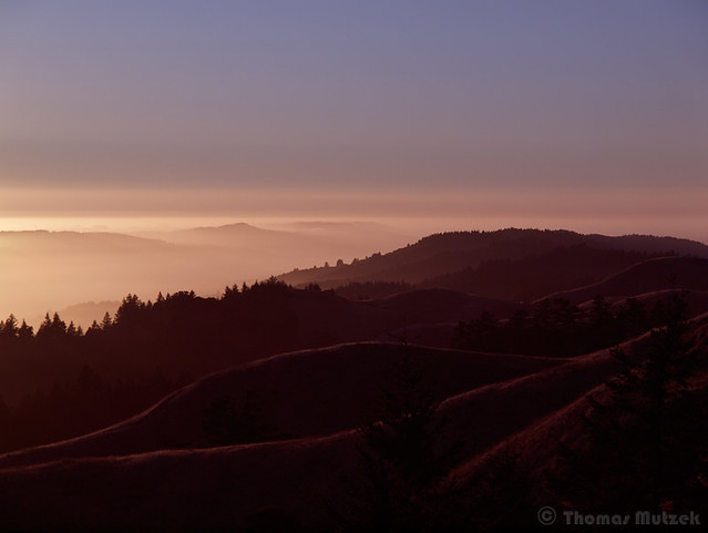 Coastal Range above Stinson Beach and Bolinas, California
