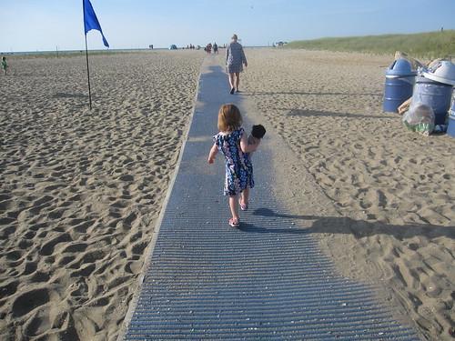 Heading down the beach path