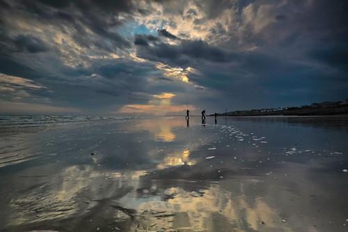 sunset sea beach clouds waves davidjacobs eastwittering jakeof