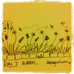 Day 7: Garden. #photoadayjuly #bdrawsthings #handdrawn #catchingup
