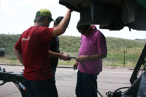 Fuel in the air lines cause problems for James as we move