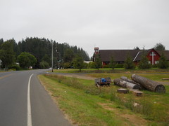 A church on the outskirts of Siletz