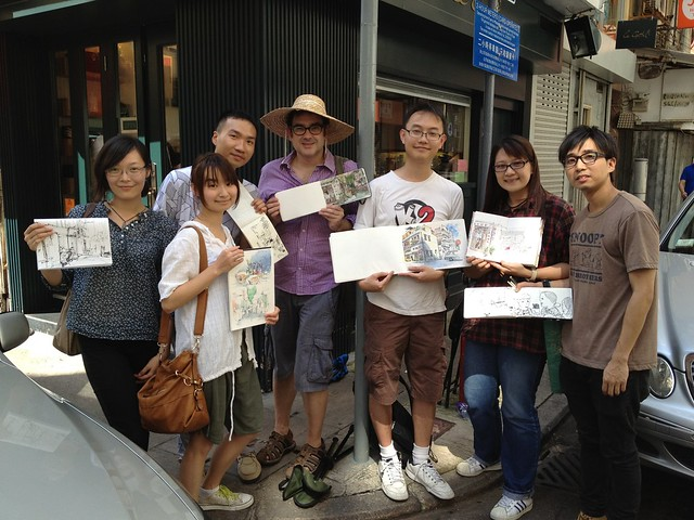 36th World Wide SketchCrawl: Tai Hang  大坑四處畫