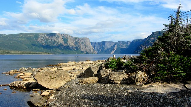 Shoreline of Western Brook Pond