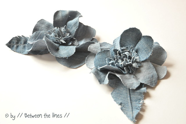 denim flowers :: a DIY