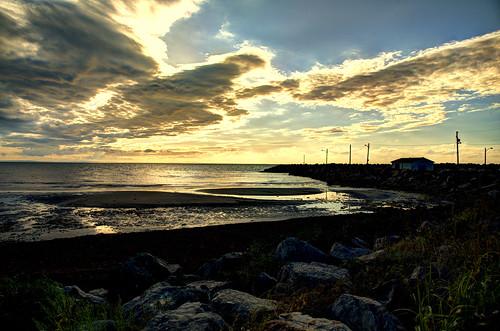 light sunset sea sky sun canada clouds nikon waves novascotia capebreton 24120vr d700