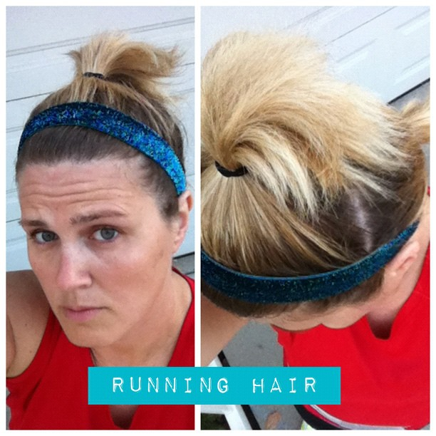Operation Pixie Haircut Growout: Month 11. Not long enough for a full ponytail but highly annoying. @BicBands around foreheard plus tiny high pony and low pony. Seriously ghetto. I looked like a Lhasa Apso tonight but got the job done. 6.4 miles. #45miles