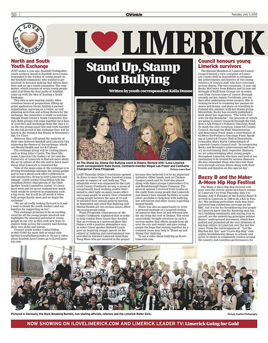 I Love Limerick Chronicle Column 3 July 2012 Page 1