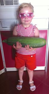 Nora with Zucchini