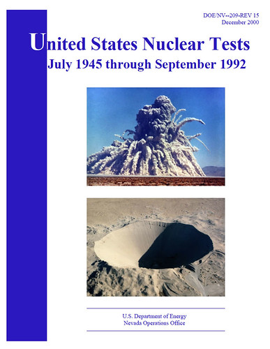United States nuclear tests July 1945 through September 1992
