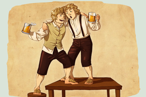 hobbits-drinking