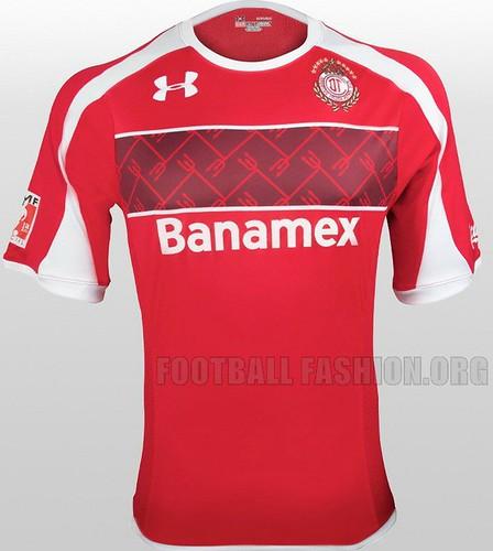 Toluca Under Armour 2012/13 Home Soccer Jersey / Camiseta de Futbol