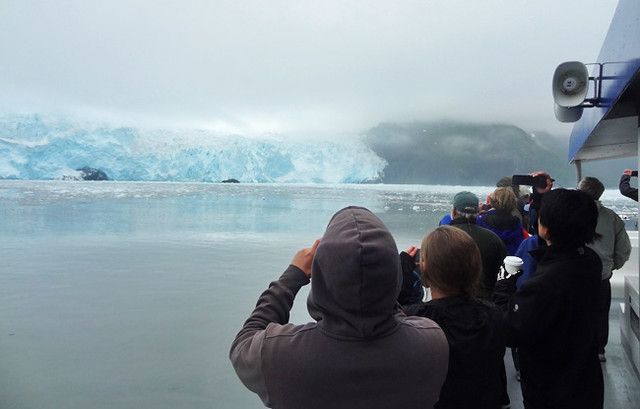 Watching glacier from cruise