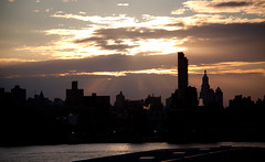 Sunset Over Lower Manhattan Viewed from the Wythe Hotel Rooftop in Brooklyn