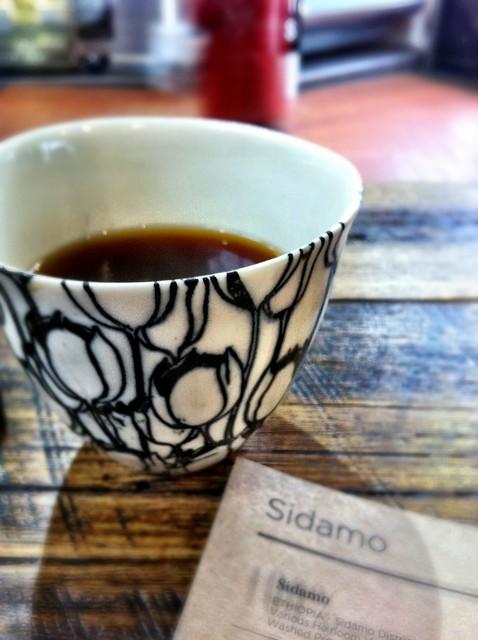 Sidamo pourover coffee at Market Lane Coffee in Prahran ...