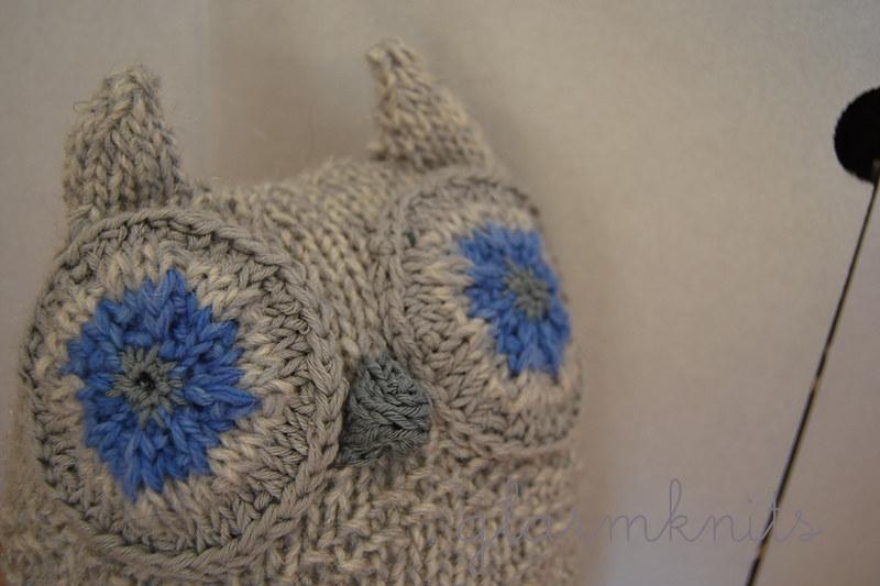 knit owl patrón buho