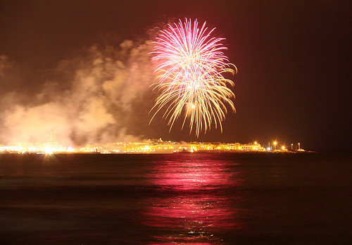 Fireworks in the bay